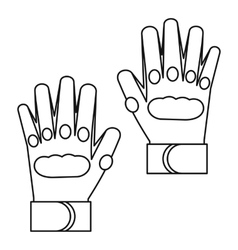 Sport gloves icon outline style vector