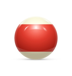 Striped ball 3d Sphere with Texture Ball isolated vector image
