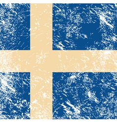 sweden retro flag vector image vector image