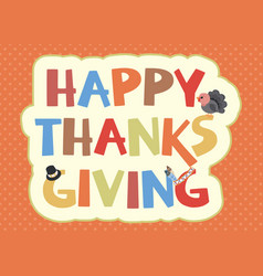 thanksgiving card design vector image vector image