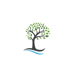 Tree logo template vector