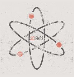 Vintage science poster and background with vector