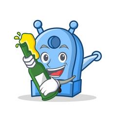 with beer pencil sharpener character cartoon vector image