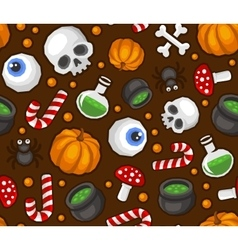 Halloween seamless pattern background with spider vector