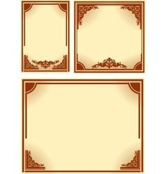 Set of retro frames vector image