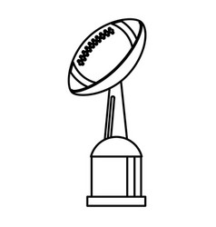 award cup american football sport outline vector image