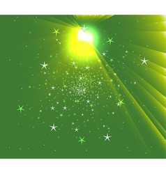 Sunbeam star green background vector