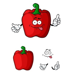 Red bell pepper character vector