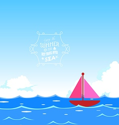 Summer with ocean vector