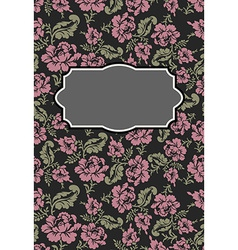 Roses floral card frame template to text b vector