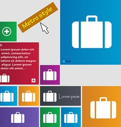 Suitcase icon sign buttons modern interface vector