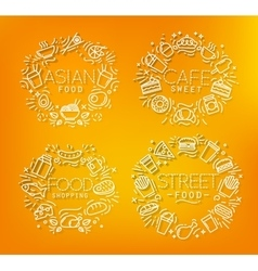 Food monograms orange vector