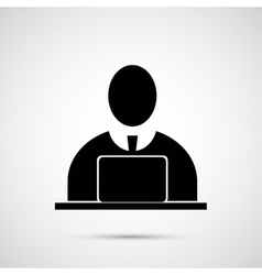 People design man at the computer icon vector