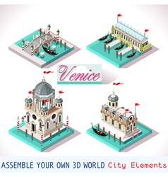 Venice 03 tiles isometric vector