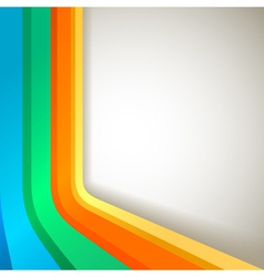 retro colorful banner vector image