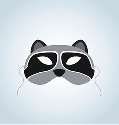 Raccoon mask vector
