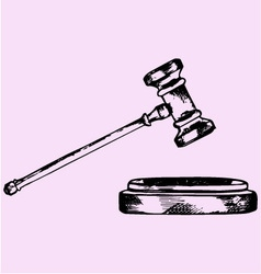 Judge gavel vector
