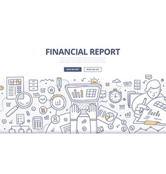Financial report doodle concept vector