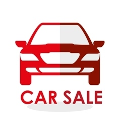 Car sale design sale concept white background vector