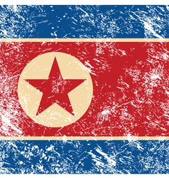 North korea retro flag vector