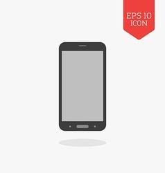 Smartphone icon flat design gray color symbol vector