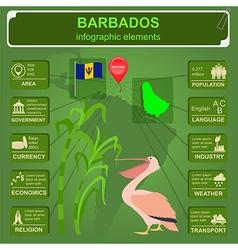 Barbados infographics statistical data sights vector