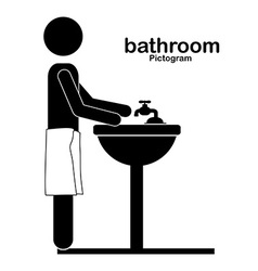 Bathroom design vector