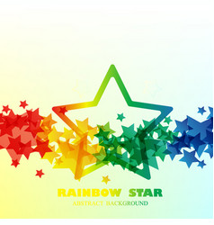 big rain bow star pattern background vector image vector image