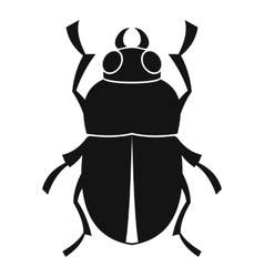 Bug icon simple style vector