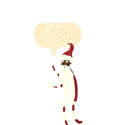 Cartoon skinny santa with speech bubble vector