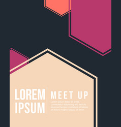 Cool colorful background meet up card collection vector