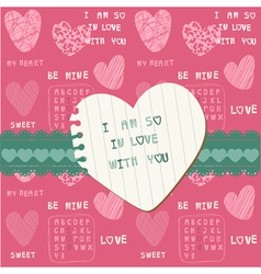 Cute love card vector