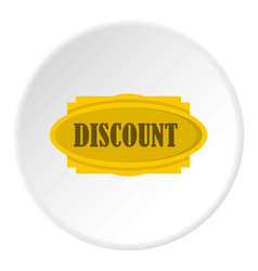 Discount label icon circle vector
