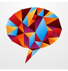 Diversity origami speech bubble isolated vector