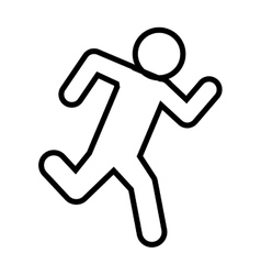 Drawing man sport runner icon vector