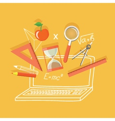 Flat office content vector
