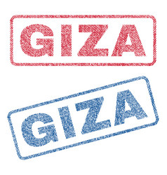 Giza textile stamps vector