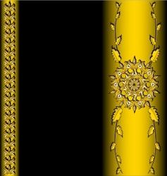golden vector image vector image