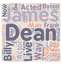 James dean james byron dean text background vector