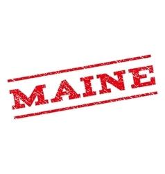Maine Watermark Stamp vector image vector image