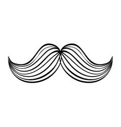 Male mustache design Barber icon graphic vector image
