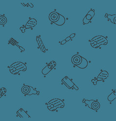 Meat concept icons pattern vector