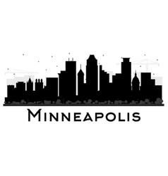 Minneapolis minnesota usa skyline black and white vector