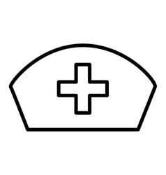 Nurse hat isolated icon design vector