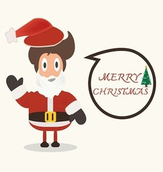Santa claus with christmas bubble vector image