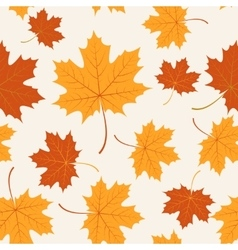 seamless with autumn maple leaves vector image