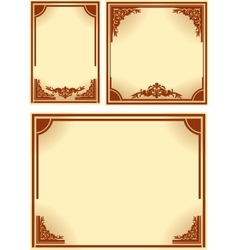 Set of retro frames vector image vector image
