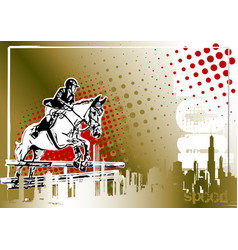Show jumping poster vector
