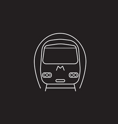 Subway metro icon public transport vector