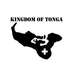 symbol of kingdom of tonga and map vector image vector image